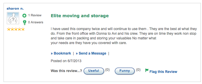 Elite Moving and Storage Reviews